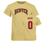 Champion Vegas Gold T Shirt-Arched Denver, Custom Tee w/ Name and #