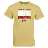 Champion Vegas Gold T Shirt-2017 NCAA Division I Mens Hockey Champions