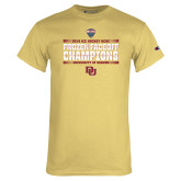 Champion Vegas Gold T Shirt-2018 NCHC Ice Hockey Champions