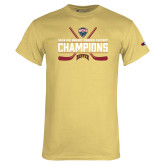 Champion Vegas Gold T Shirt-NCHC Ice Hockey Champions