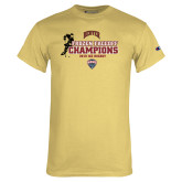 Champion Vegas Gold T Shirt-NCHC 2018 Ice Hockey Champions