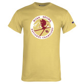 Champion Vegas Gold T Shirt-2018 NCAA Skiing National Champions