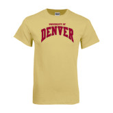 Champion Vegas Gold T Shirt-Arched U of Denver 2 Color Version