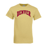 Champion Vegas Gold T Shirt-Arched Denver 2 Color Version