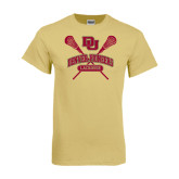 Champion Vegas Gold T Shirt-DU Crossed Lacrosse Sticks
