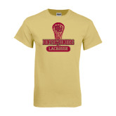 Champion Vegas Gold T Shirt-Denver Pioneers Lacrosse Stick