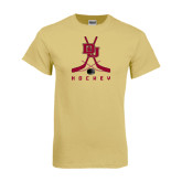 Champion Vegas Gold T Shirt-DU Hockey w/Crossed Sticks