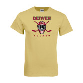 Champion Vegas Gold T Shirt-Denver Hockey w/Mask