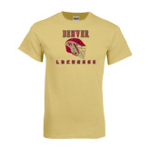 Champion Vegas Gold T Shirt-Denver Lacrosse Helmet