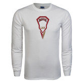 White Long Sleeve T Shirt-Denver LAX Geometric Stick