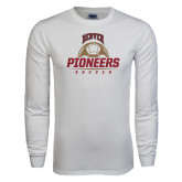 White Long Sleeve T Shirt-Pioneers Soccer Half Ball