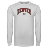White Long Sleeve T Shirt-Denver Dad
