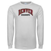 White Long Sleeve T Shirt-Denver Grandpa