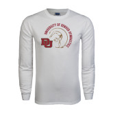 White Long Sleeve T Shirt-Denver Gymnastics Circle Design