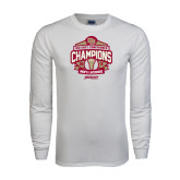 White Long Sleeve T Shirt-2015 Big East Mens Lacrosse