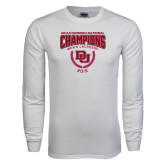 White Long Sleeve T Shirt-NCAA Division I Lacrosse Champs