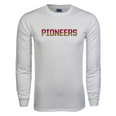 White Long Sleeve T Shirt-Pioneers Two Tone