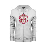 ENZA Ladies White Fleece Full Zip Hoodie-2015 Big East Mens Lacrosse