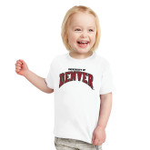 Toddler White T Shirt-University of Denver