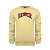 Champion Vegas Gold Fleece Crew-Arched University of Denver
