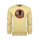 Champion Vegas Gold Fleece Crew-Skier Jumping Ski Design