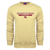 Champion Vegas Gold Fleece Crew-University of Denver Pioneers Bar Stacked