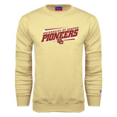 Champion Vegas Gold Fleece Crew-University of Denver Pioneers Slanted w/ Logo