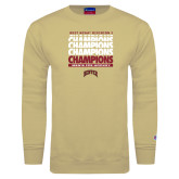 Champion Vegas Gold Fleece Crew-2017 NCAA Division I Mens Hockey Champions