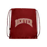 Nylon Cardinal Drawstring Backpack-Arched Denver