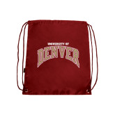 Nylon Cardinal Drawstring Backpack-Arched University of Denver