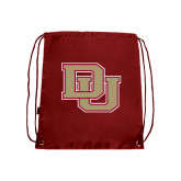 Nylon Cardinal Drawstring Backpack-DU