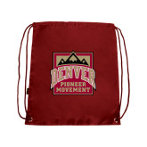 Nylon Cardinal Drawstring Backpack-Pioneer Movement