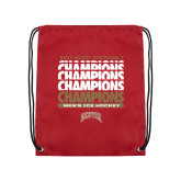 Cardinal Drawstring Backpack-2017 NCAA Division I Mens Hockey Champions