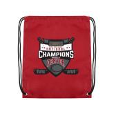 Cardinal Drawstring Backpack-DU Mens Lacrosse Champions