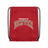 Cardinal Drawstring Backpack-University of Denver