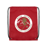 Cardinal Drawstring Backpack-2018 NCAA Skiing National Champions