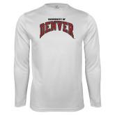 Performance White Longsleeve Shirt-University of Denver
