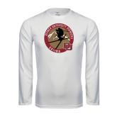 Syntrel Performance White Longsleeve Shirt-Skier Jumping Ski Design