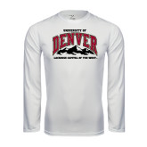 Syntrel Performance White Longsleeve Shirt-Lacrosse Capital of the West
