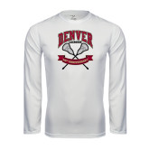 Syntrel Performance White Longsleeve Shirt-Lacrosse 50th Anniversary
