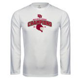 Syntrel Performance White Longsleeve Shirt-Mens NCAA Lacrosse Champs