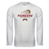 Syntrel Performance White Longsleeve Shirt-Pioneers Lacrosse Modern