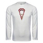 Syntrel Performance White Longsleeve Shirt-Denver LAX Geometric Stick