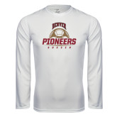 Syntrel Performance White Longsleeve Shirt-Pioneers Soccer Half Ball