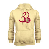 Champion Vegas Gold Fleece Hood-Peace, Love, and Volleyball