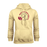 Champion Vegas Gold Fleece Hood-Denver Gymnastics Circle Design
