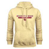 Champion Vegas Gold Fleece Hood-University of Denver Pioneers Bar Stacked