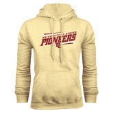 Champion Vegas Gold Fleece Hood-University of Denver Pioneers Slanted w/ Logo
