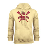 Champion Vegas Gold Fleece Hood-DU Crossed Lacrosse Sticks