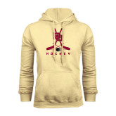 Champion Vegas Gold Fleece Hood-DU Hockey w/Crossed Sticks
